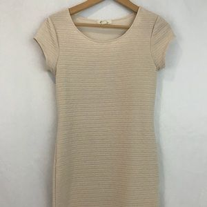 Forever 21 cream dress with sleeves size medium